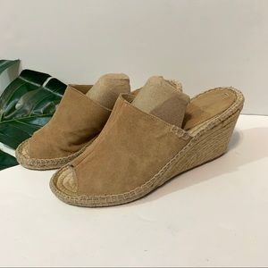 Soludos open toe wedge espadrilles size 9